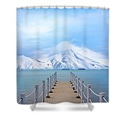 Pier And Mountain Shower Curtain
