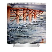 Pier At Atlantic City Shower Curtain