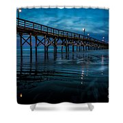 Pier At Dusk Shower Curtain