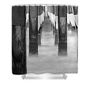 Pier At High Tide Shower Curtain