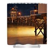 Pier At Night Shower Curtain