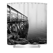 Pier At Popham Shower Curtain