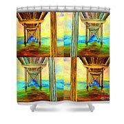 Pier Collage Shower Curtain