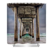 Pier Shower Curtain by Doug Oglesby