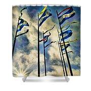 Pier Flags Shower Curtain
