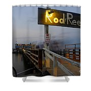 Pier Group Shower Curtain