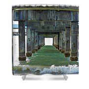Pier Into The Sunset Shower Curtain