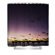 Pier Moon And Venus Shower Curtain
