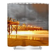 Pier On Fire Shower Curtain