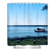 Pier On The Bay Shower Curtain
