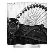 Pier Park Navy Pier Chicago Shower Curtain