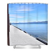 Pier Posted Shower Curtain
