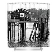 Pier Shack Shower Curtain