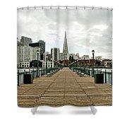 Pier Shot Shower Curtain