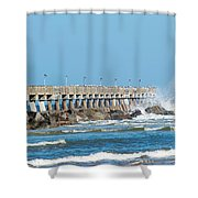 Pier Surf Shower Curtain