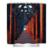Pier Symmetry   Shower Curtain