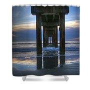 Pier View At Dawn Shower Curtain