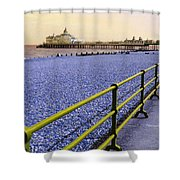 Pier View England Shower Curtain