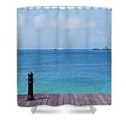 Pier View Shower Curtain