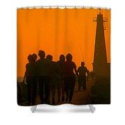 Pier Walkers Shower Curtain