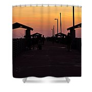 Pier Work Number Six Shower Curtain