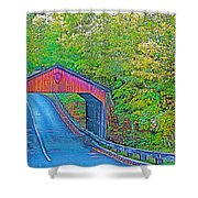 Pierce Stocking Covered Bridge In Sleeping Bear Dunes National Lakeshore-michigan Shower Curtain