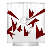 Piercing Stares Shower Curtain