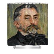 Pierre-auguste Renoir 1841-1919 Portrait Stephane Mallarme Shower Curtain