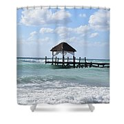 Piers By The Ocean Shower Curtain