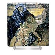 Pieta Shower Curtain by Vincent van Gogh