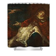 Pieta With Mary Magdalene Shower Curtain