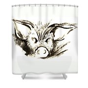 Pig Headed Shower Curtain