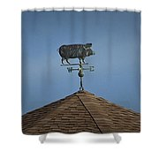 Pig Weathervane Ocean Isle North Carolina Shower Curtain