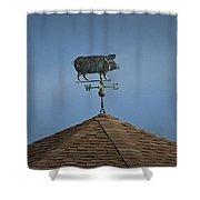 Pig Weathervane Ocean Isle North Carolina Shower Curtain
