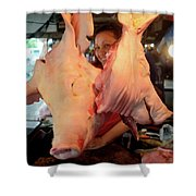 Pig Zedz Shower Curtain