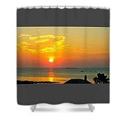 Pigeon Cove Summer Sunrise Shower Curtain