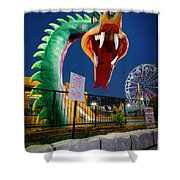 Pigeon Forge Dragon Shower Curtain