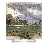 Pigeon Hunting, C1875 Shower Curtain