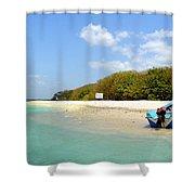 Pigeon Island Shower Curtain