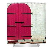 Pigeon Pink Shower Curtain