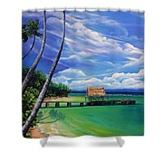 Pigeon Point   Tobago Shower Curtain