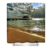 Pigeon Point Beach Tobago Shower Curtain