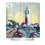 Pigeon Point Shower Curtain
