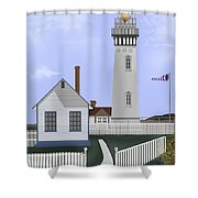 Pigeon Point Lighthouse California Shower Curtain