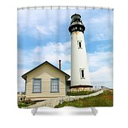 Pigeon Point Lighthouse View Shower Curtain