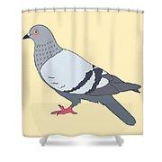Pigeon Yellow Shower Curtain