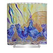 Pigeons Shower Curtain