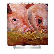 Piglet Pair Shower Curtain