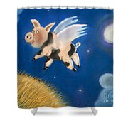 Pigs Might Fly Shower Curtain