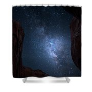 Pike National Forest Milky Way Shower Curtain